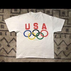 Vintage 90s USA Olympics Single Stitch Champion T